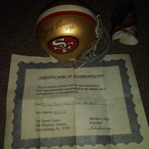 Jerry rice signature mini helmet